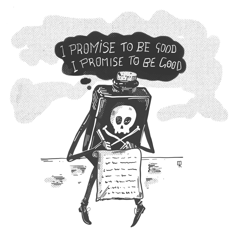 Qamar Ramzan, Illustration, Poison Bottle